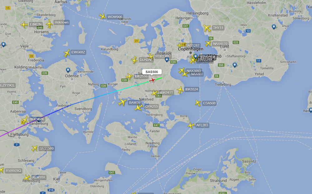 realtime flight map