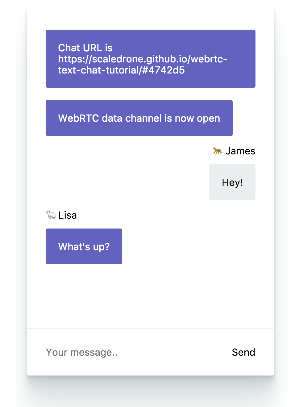 WebRTC Chat Tutorial